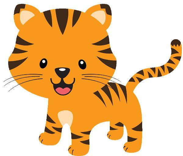 Cute Baby Jungle Animals Clipart 3 by Bryan.
