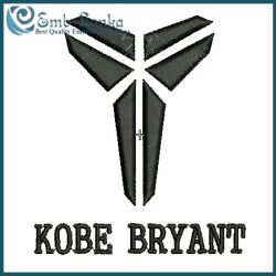 Kobe Bryant Logo Embroidery Design.