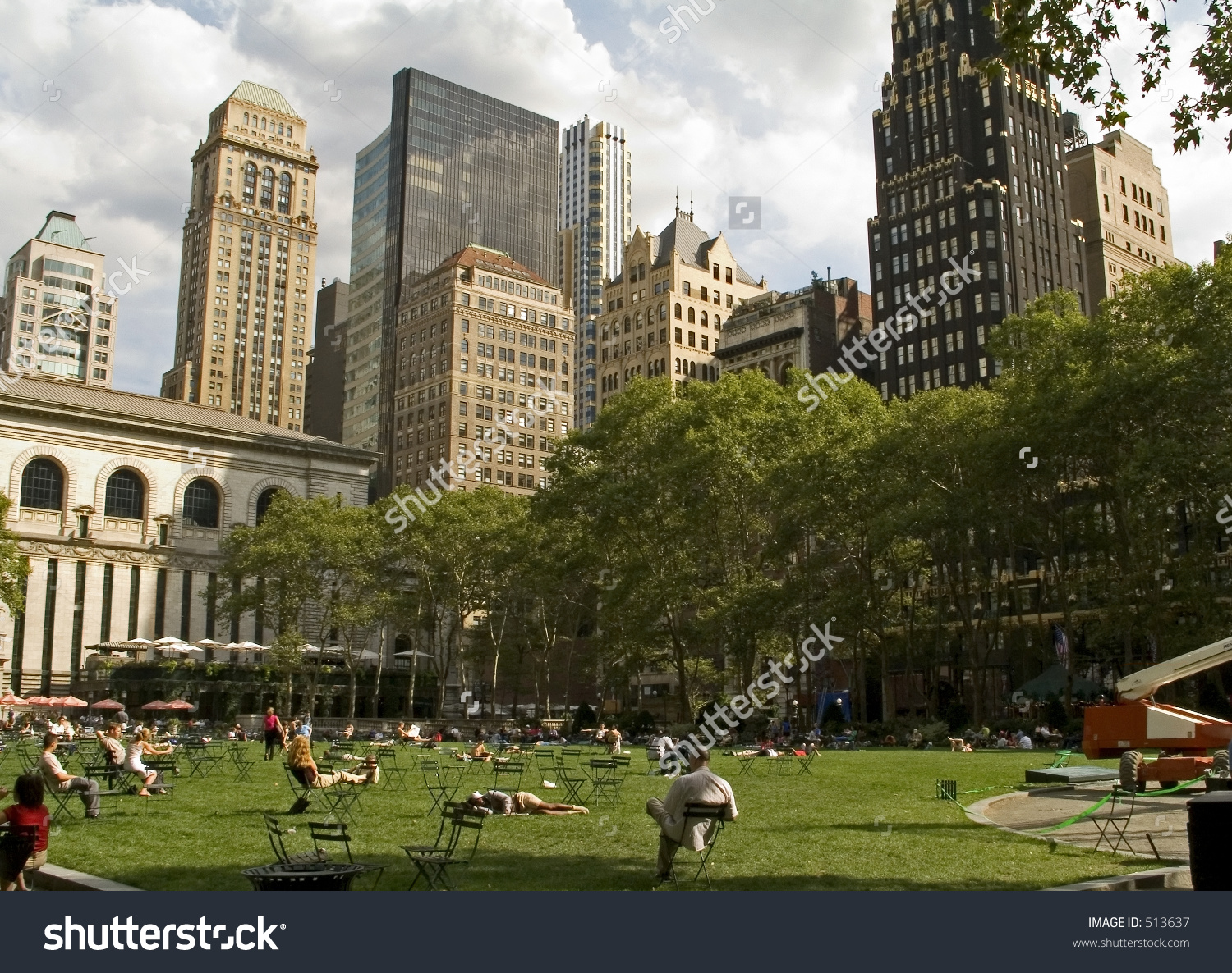 This View People Relaxing Bryant Park Stock Photo 513637.