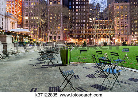 Stock Image of Buildings by Bryant park k37122835.