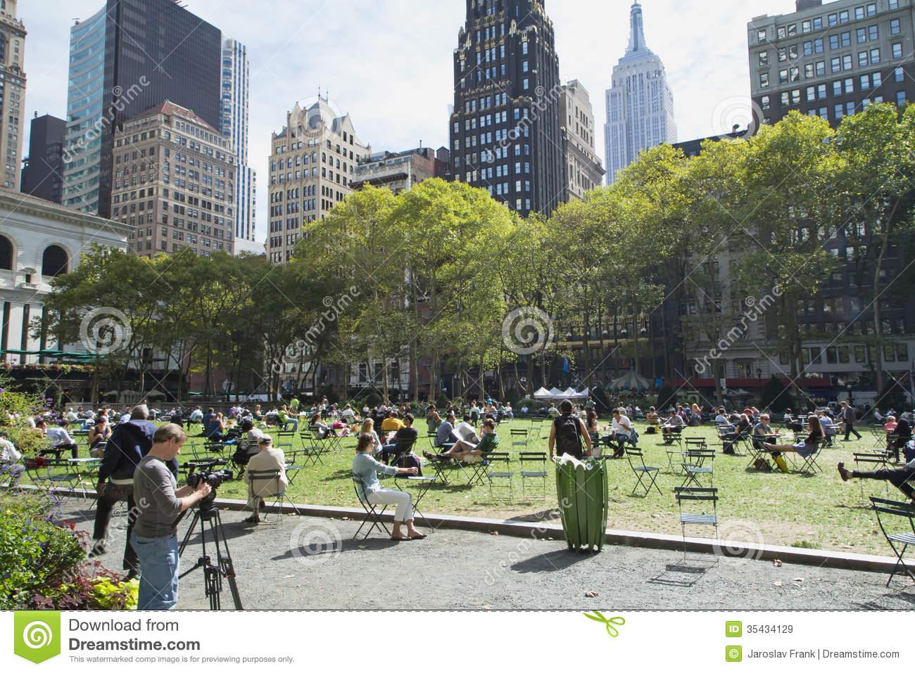 Bryant Park, New York City Editorial Photo.