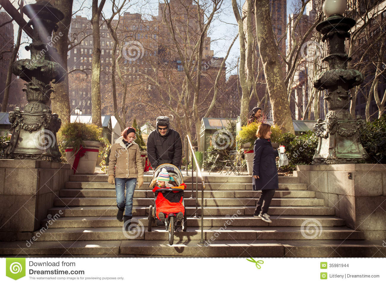 Bryant Park NYC Editorial Stock Image.