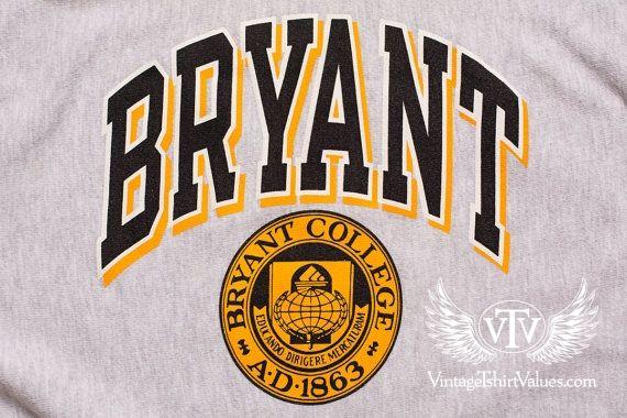 Bryant College Champion Reverse Weave Sweatshirt, Vintage.