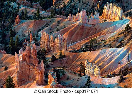 Stock Photo of Scenic view of Bryce Canyon Southern Utah USA.