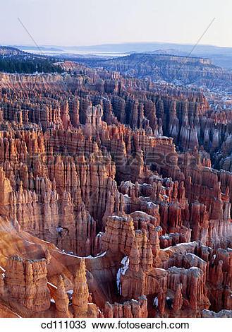 Stock Photo of Bryce Canyon National Park. Utah. USA cd111033.