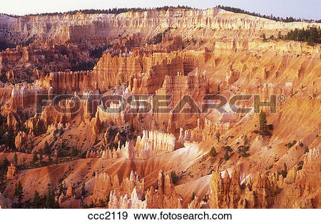 Stock Photograph of USA, Utah, Bryce Canyon National Park, view of.