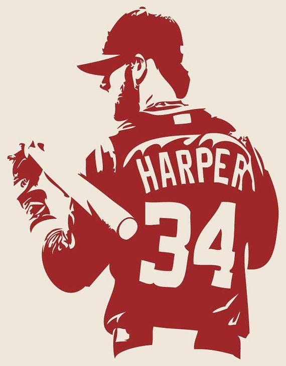 BRYCE HARPER Washington Nationals Baseball by.
