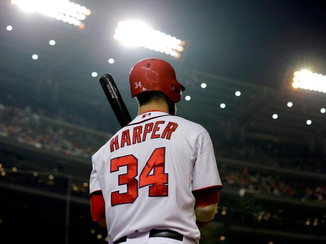 Bryce Harper unveils new Bryce Harper logo.