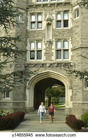 Stock Image of Bryn Mawr, PA, Pennsylvania, Bryn Mawr College.