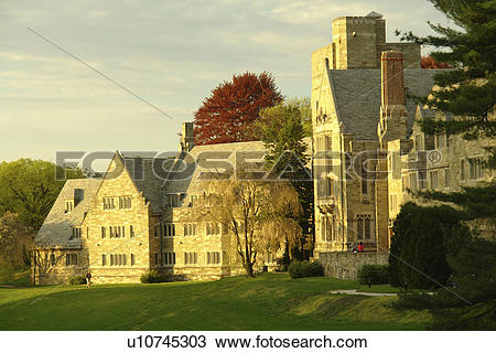 Stock Photo of Bryn Mawr, PA, Pennsylvania, Bryn Mawr College.