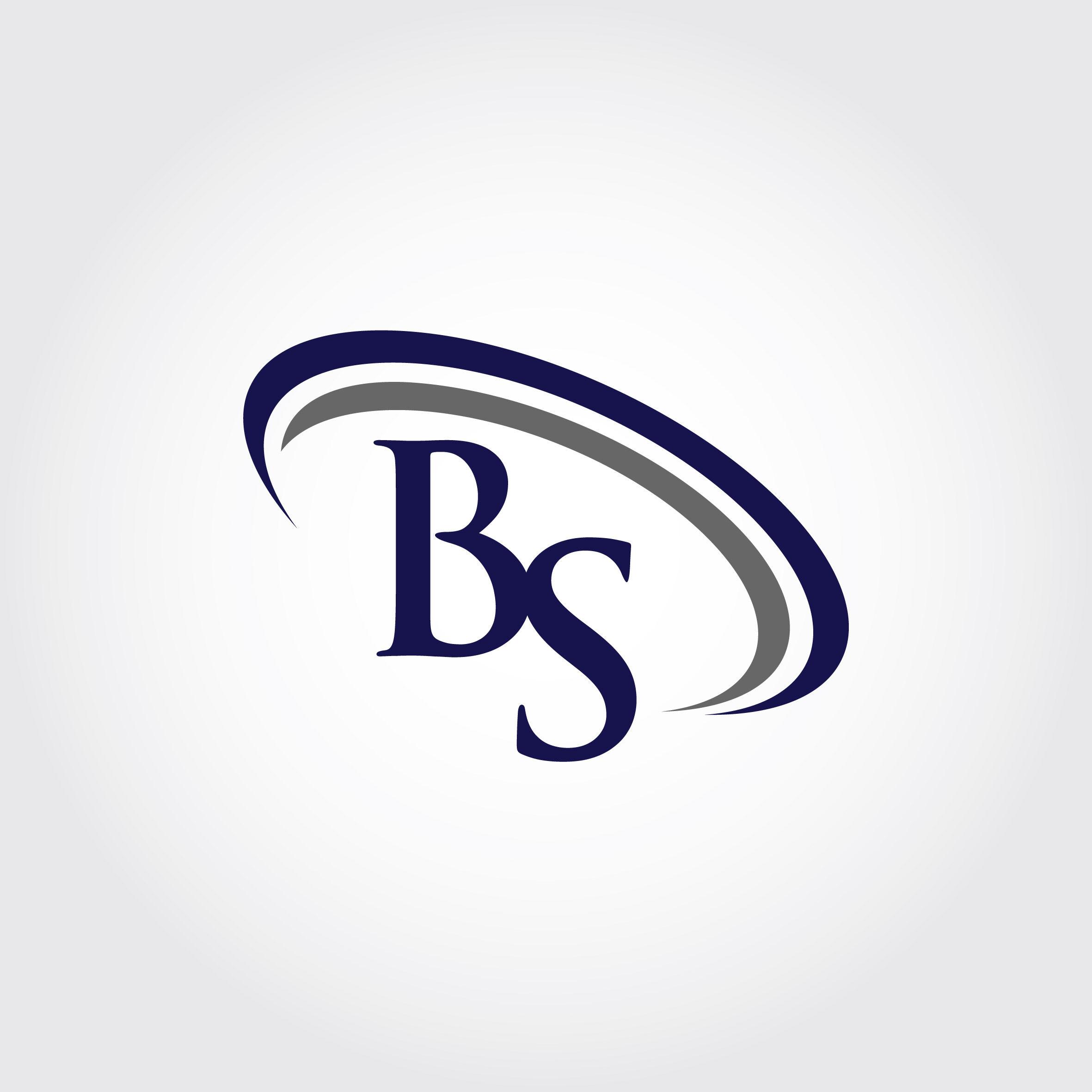 Monogram BS Logo Design By Vectorseller.
