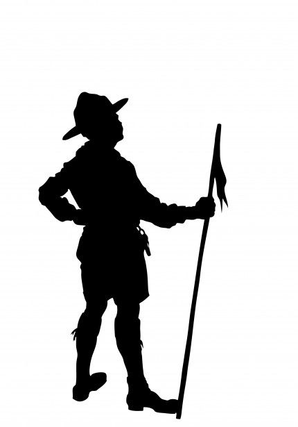 Boy Scout Silhouette Clipart Free Stock Photo.