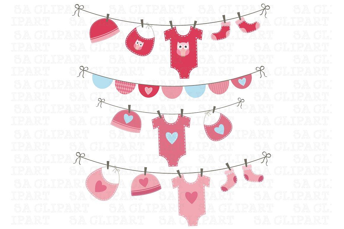 Baby Girl Clipart ~ Illustrations on Creative Market.