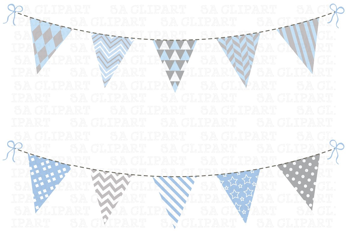 Bunting Flags Clipart ~ Illustrations on Creative Market.