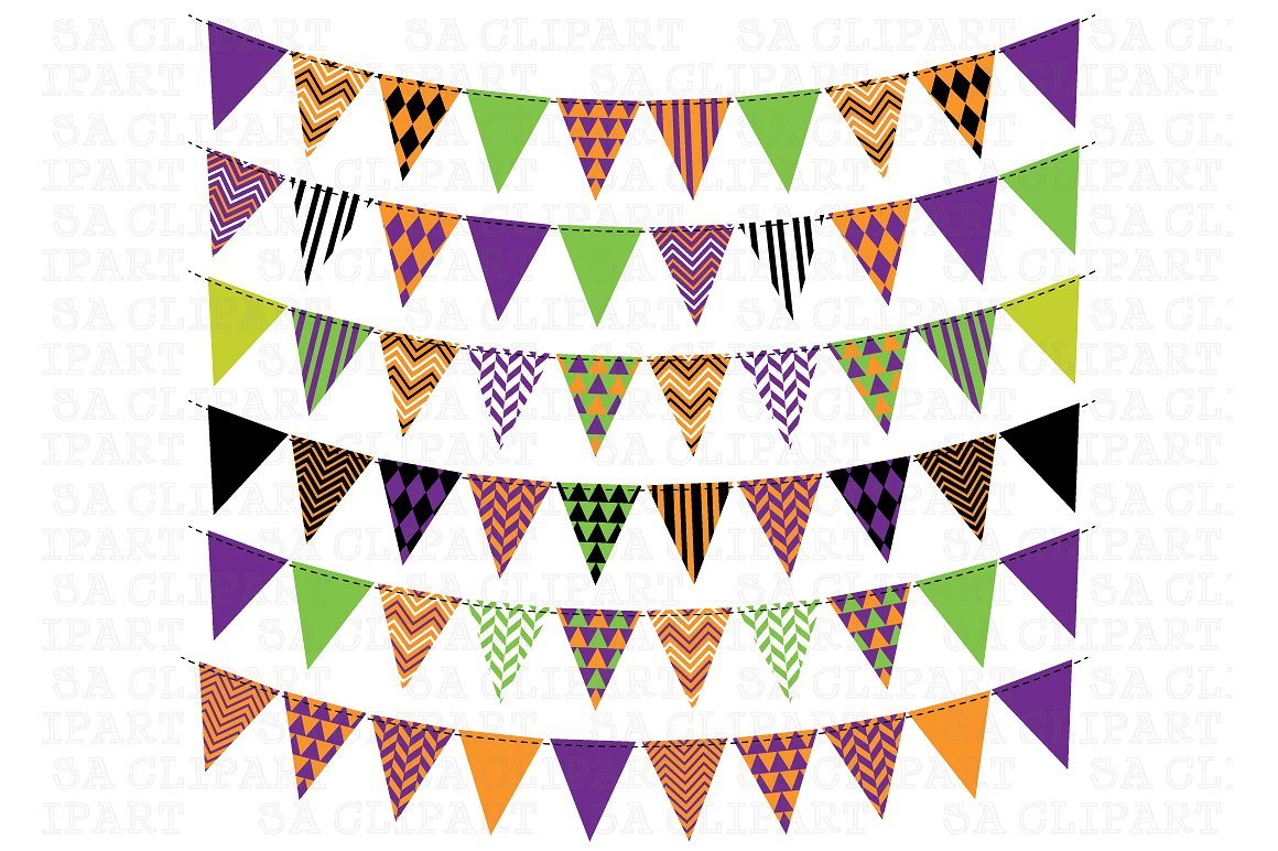 Bunting Banner Clipart ~ Illustrations on Creative Market.
