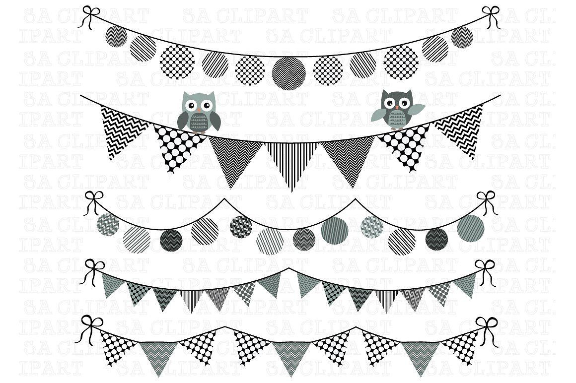 Baby shower bunting clipart Photos, Graphics, Fonts, Themes.