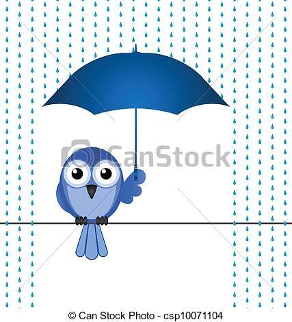 Vektor Clipart von Schützen, Regen.