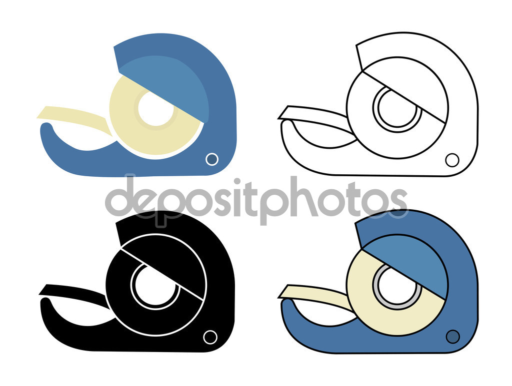 Scotch tape icons set — Stock Vector © bsd #75627459.