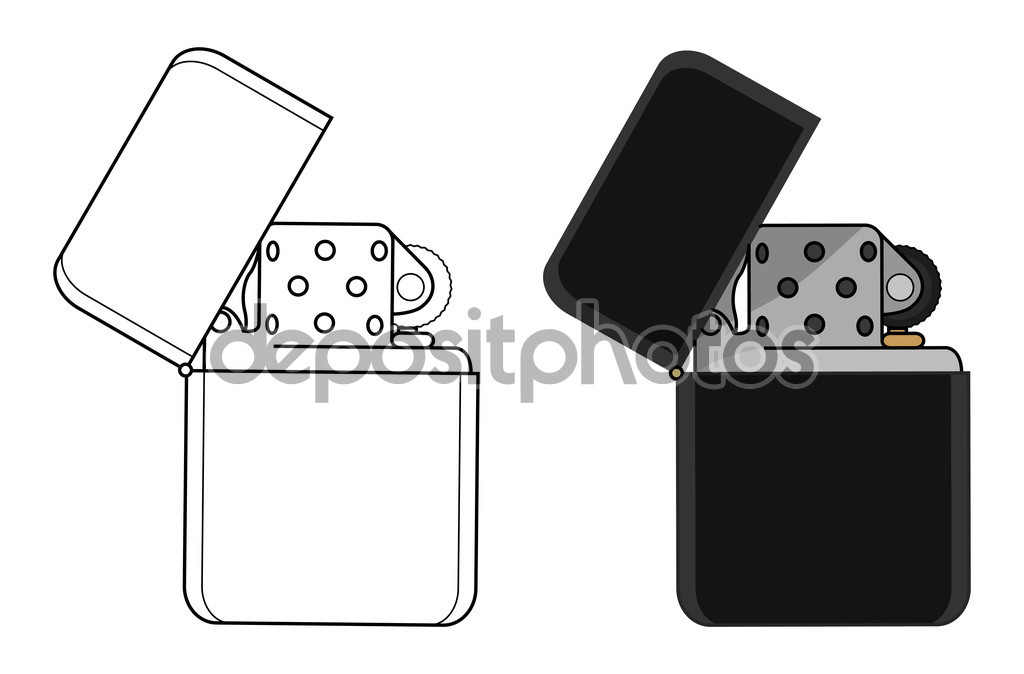 Black gasoline lighters — Stock Vector © bsd #75628191.