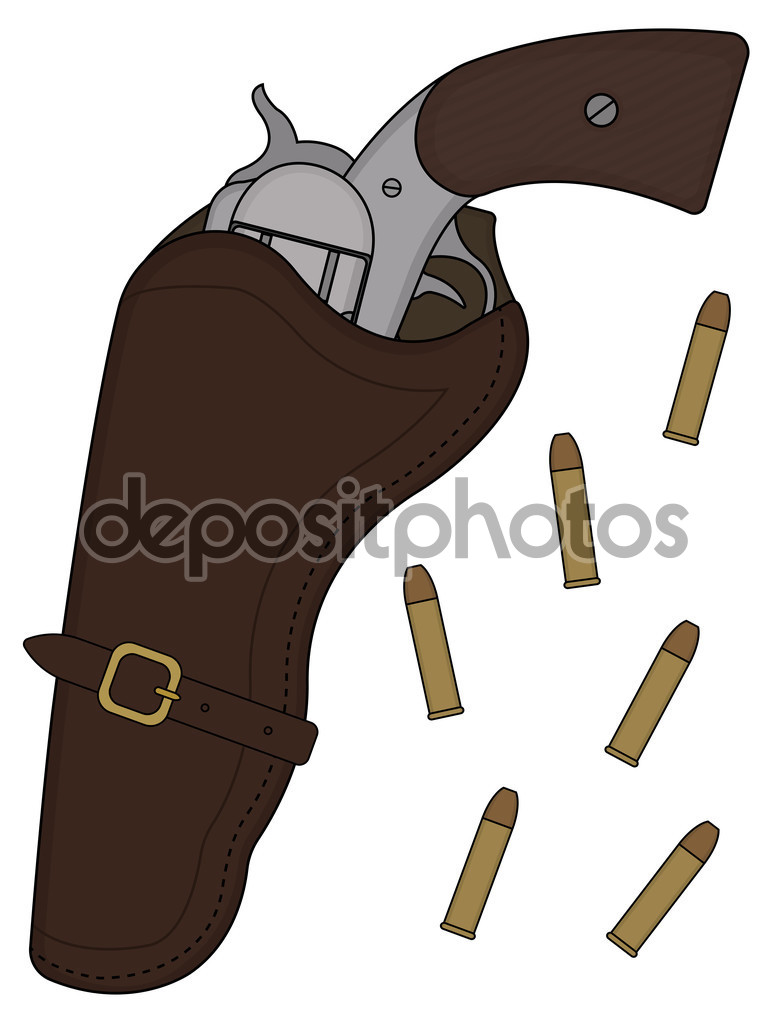 Wild west handle revolver — Stock Vector © bsd #75628075.