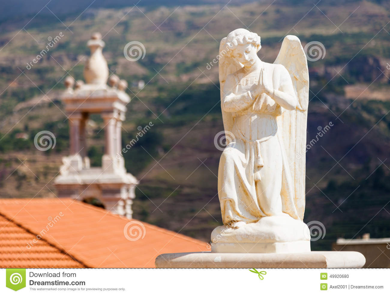 Beautiful Church In Bsharri, Qadisha Valley In Lebanon Stock Photo.