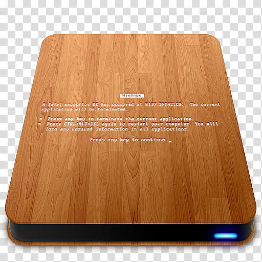 Wooden Slick Drives, Wooden Slick Drives BSOD icon.