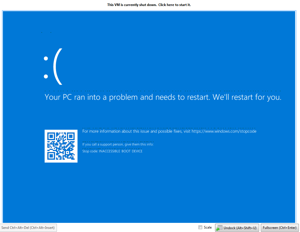Windows 10 BSOD: Inaccessible Boot Device after 1803 feature update.