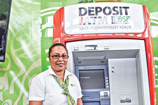 BSP plans to roll out deposting ATM machines.