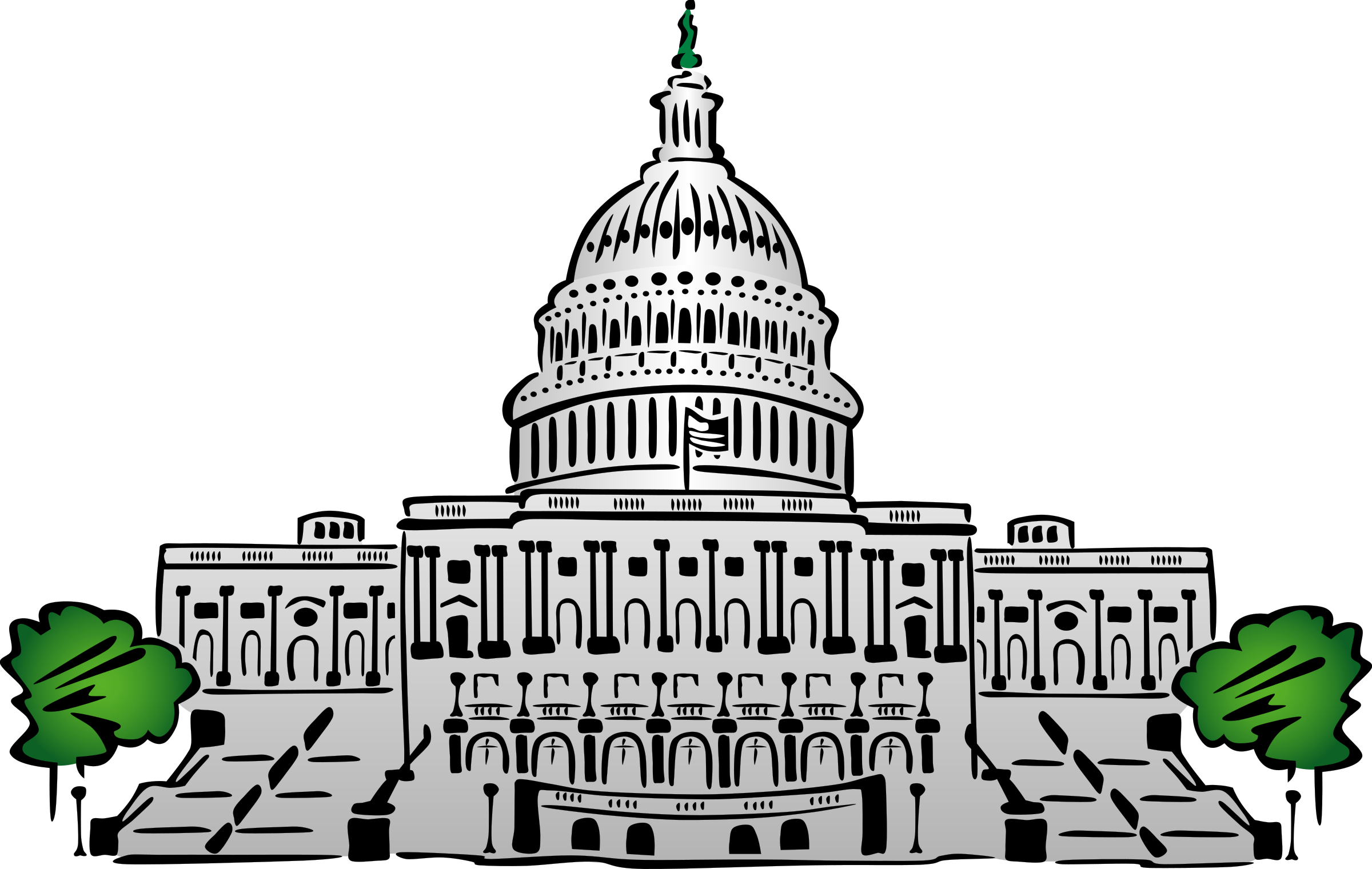 Capital building download free clipart with a transparent.