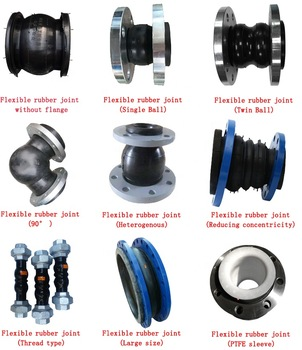 Bsp Thread Type Rubber Bellow Expansion Joint Twin Union Flexible Joint.
