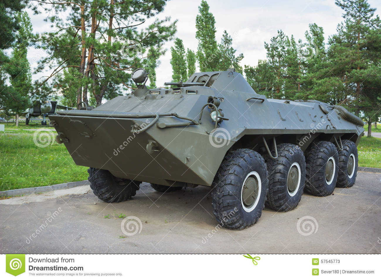 Soviet Armored Personnel Carrier BTR.