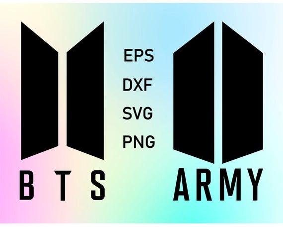 BTS logo ARMY svg file download clipart k.