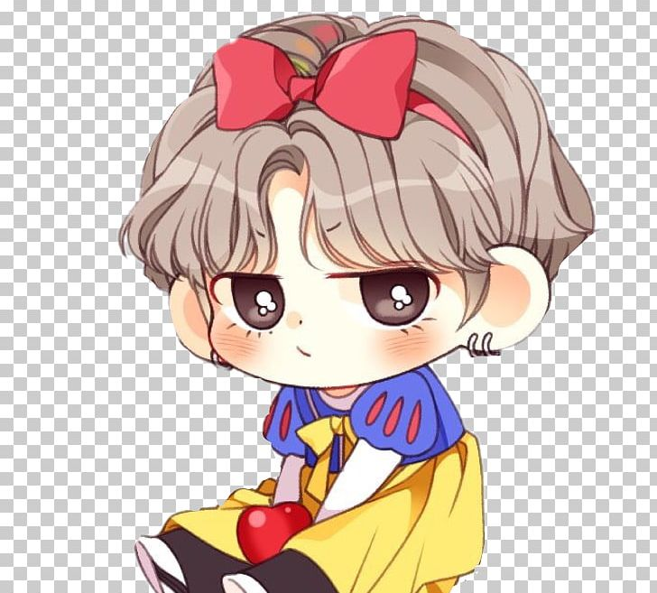 BTS Chibi Drawing Anime Fan Art PNG, Clipart, Anime, Brown Hair, Bts.