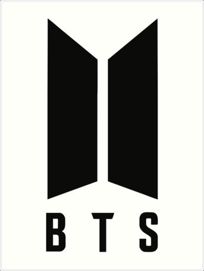 \'BTS new logo black\' Art Print by dexta.