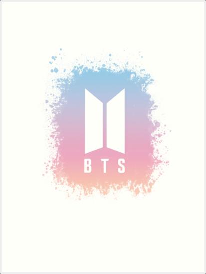 'BTS Logo transparent' Art Print by Angellinx3.