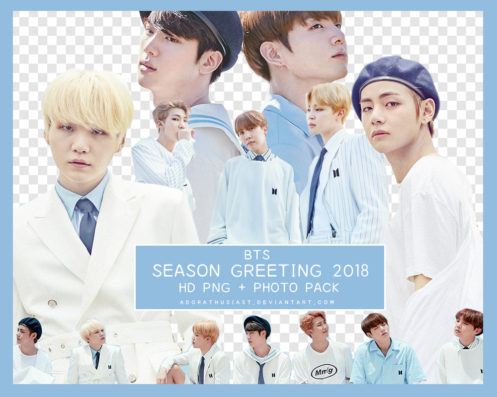 BTS Season Greeting 2018 PNG + PHOTO PACK by adorathusiast on DeviantArt.