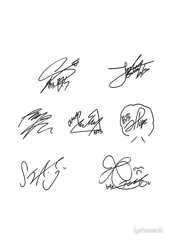 BTS SIGNATURES.