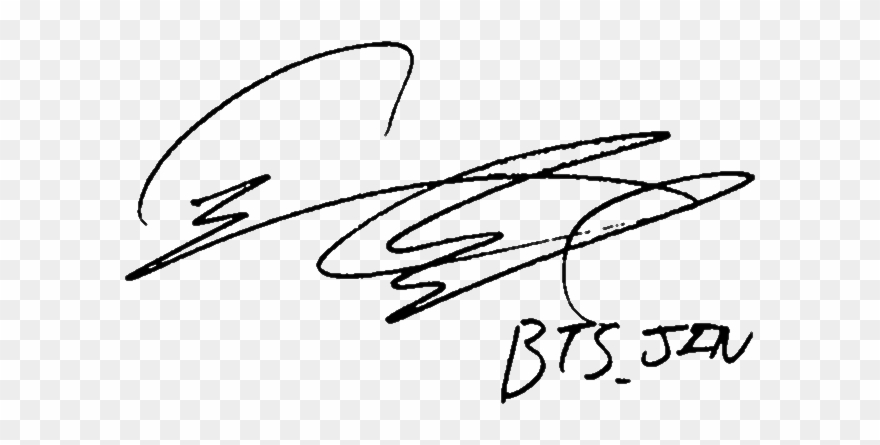 Jin Seokjin Signature.