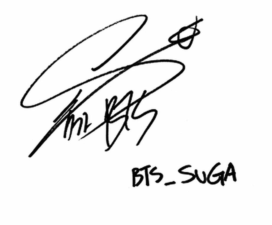 Taehyung Signature Png.