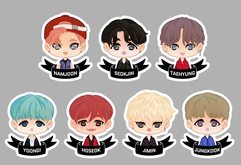 BTS Stickers.