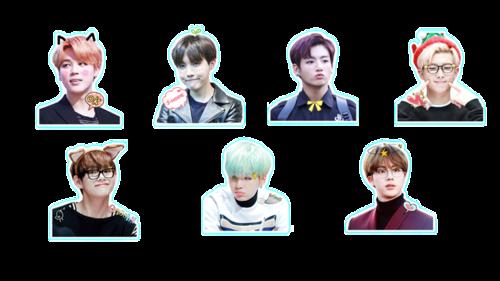 BTS Stickers~♡ uploaded by M I K A D I V A on We Heart It.