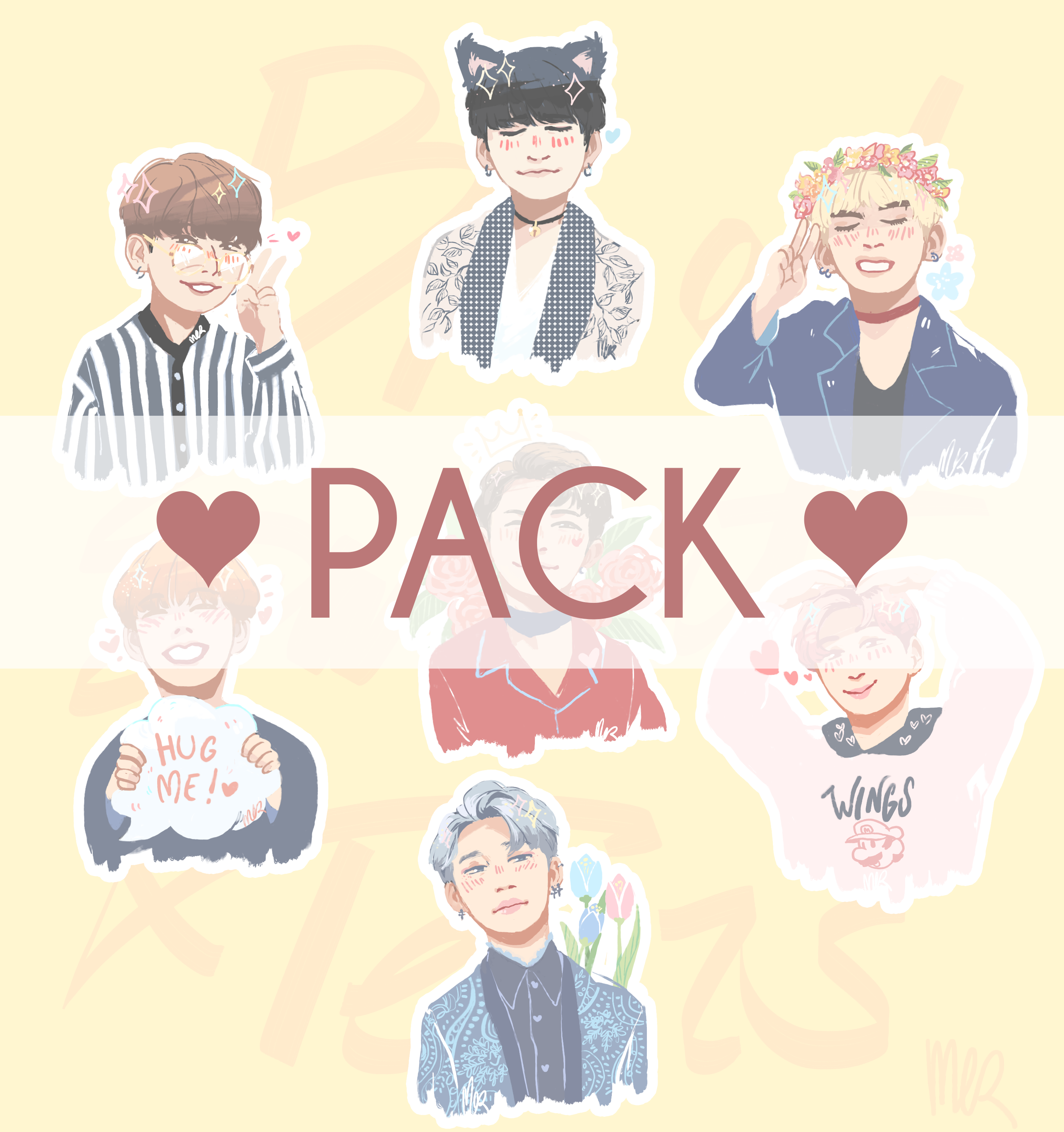 Bts wings clipart collection.