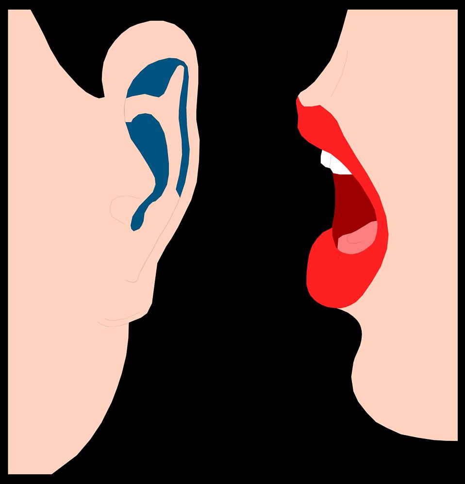 Speaking mouth clipart whisper.