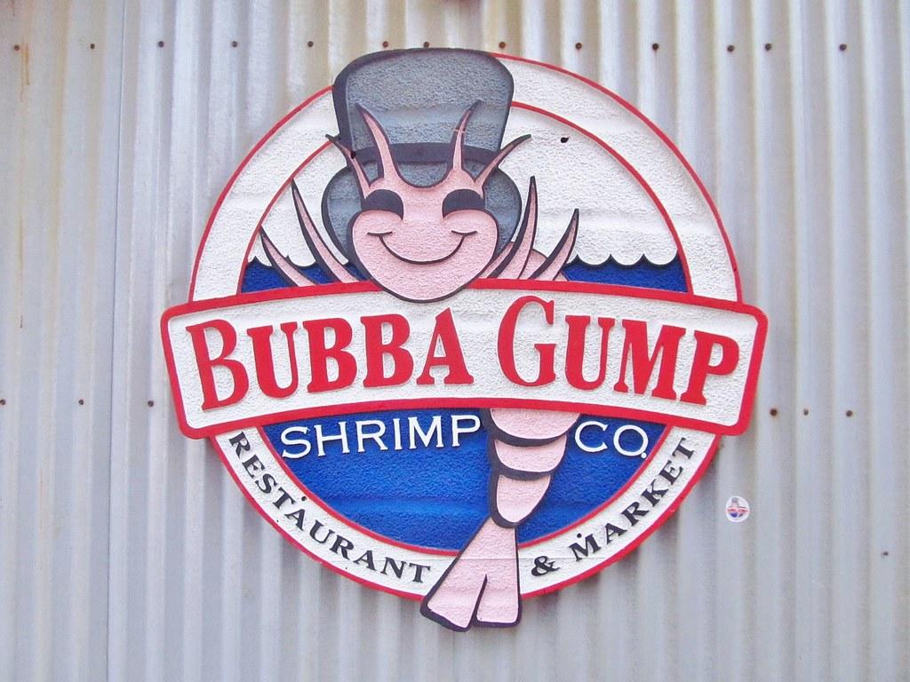 Bubba Gump Shrimp Co logo and sticker.