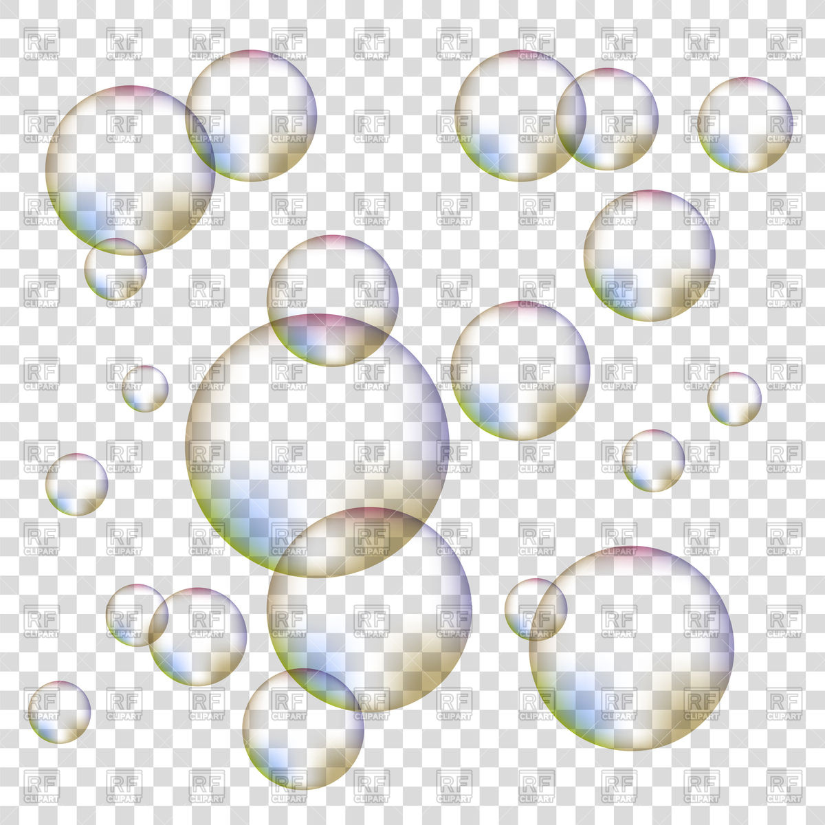 Bubbles Clipart Transparent Background.