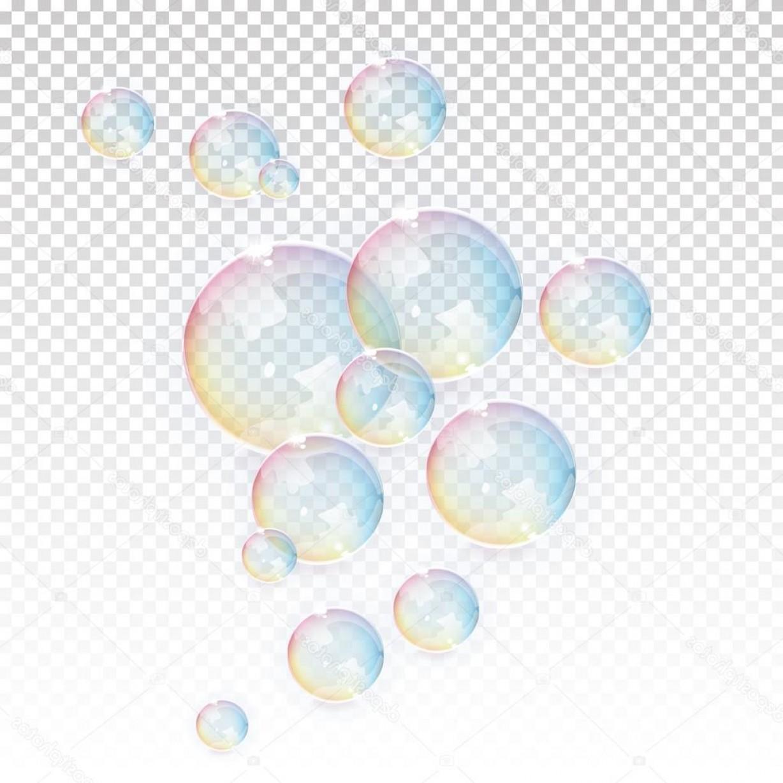 Stock Illustration Vector Transparent Bubbles Background.