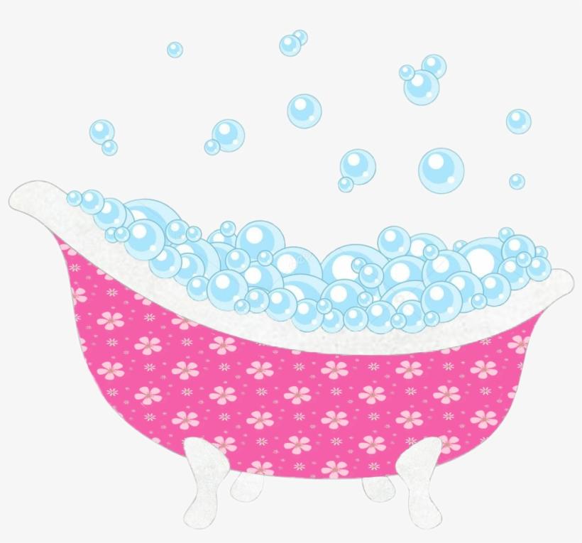 Clip Stock Bubblebath Bubbles Bathtub Tub Relax Unwind.
