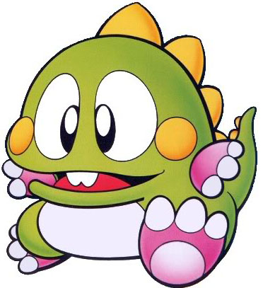 Bub from the Bubble Bobble and Puzzle Bobble Games.