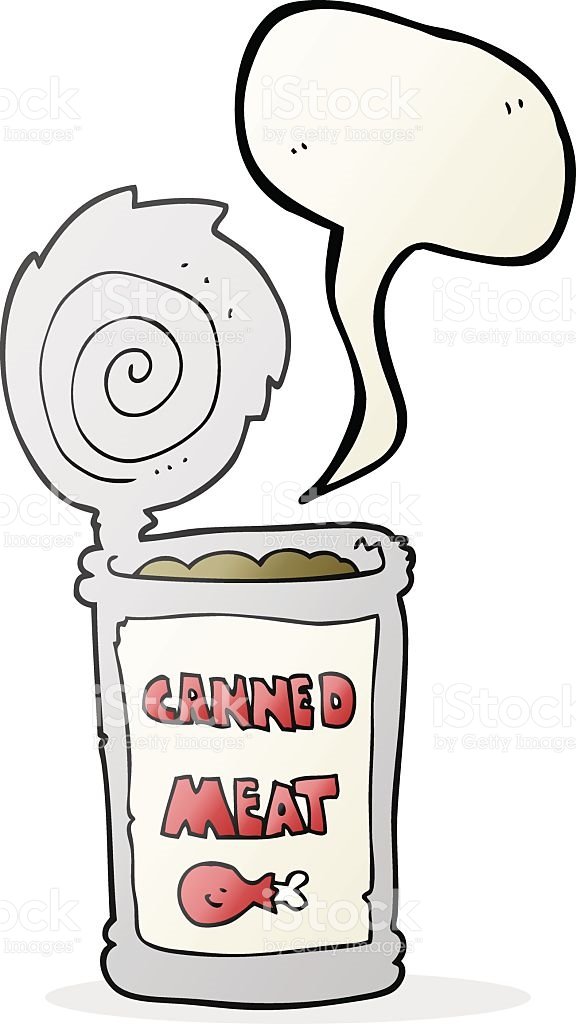 Speech Bubble Cartoon Canned Meat stock vector art 513871894.