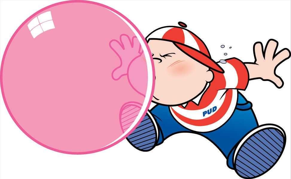 bubble gum bubbles.